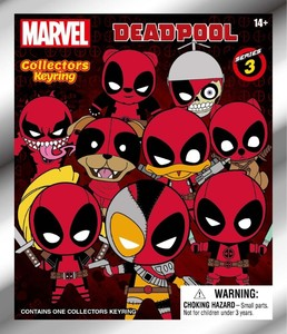 Marvel Deadpool Series 3 3D Foam Collectible Keyring