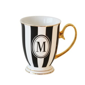 Bombay Duck Alphabet Strip Letter M Black/White Mug