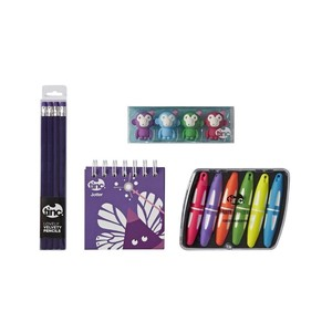 Jotter Pad Gift Set Purple