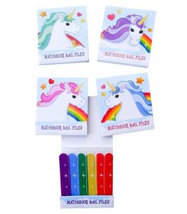 Funky Nail File Matchbook Unicorn Rainbow