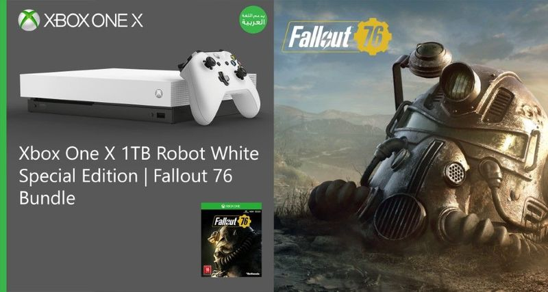 XBOX One X White console ltd ed  Fallout Game code inside