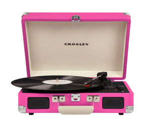 Crosley Cruiser Deluxe Pink Portable Turntable