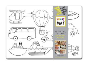 Funny Mat Activity Placemat Vehicles