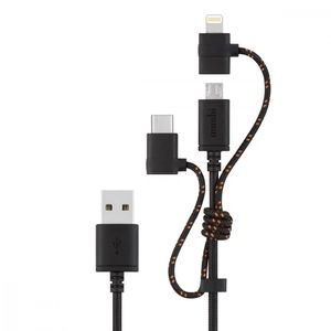 3 In 1 Universal Charging Cable Metro Black