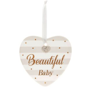 Mad Dots Baby Heart Plaque