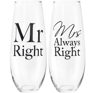 Mr Mrs Right Stemlessflutes S2
