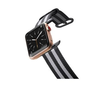 Casetify Apple Watch Band Nylon Fabric All Series 42 mm Black Stirpes