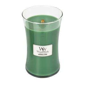Woodwick Windowsill Herbs Green Large Candle