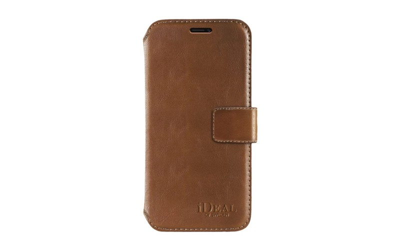 uk availability b45d8 d7504 iDeal of Sweden STHLM Wallet Case Brown for iPhone X