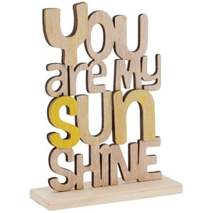 You are my sunshine wooden words