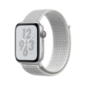 Apple Watch Nike+ Series 4 Gps 44Mm Silver Aluminium Case With Summit White Nike Sport Loop