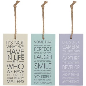 Inspirational Quote Tag Sign