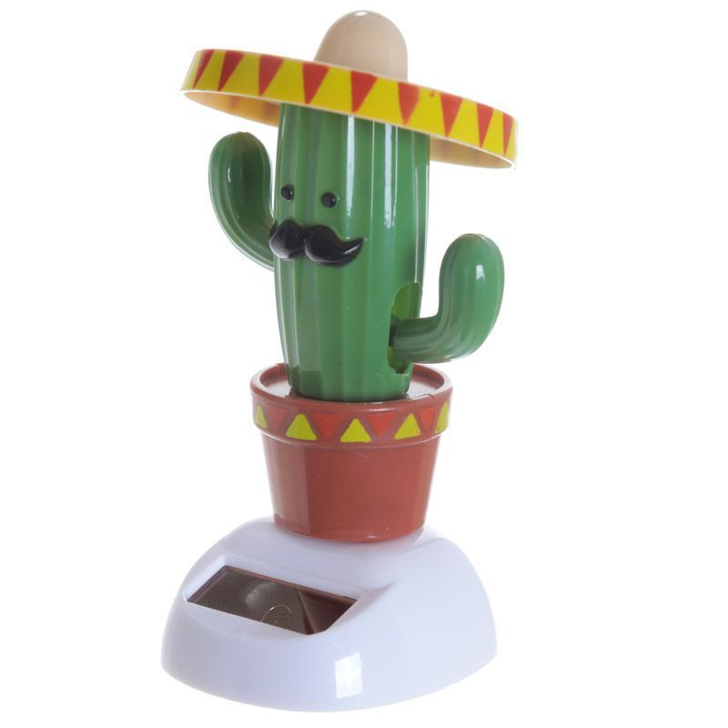 Fun Collectable Cactus Wearing Sombrerosolar Powered Pal