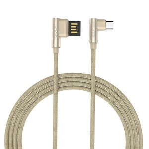 Gc 48M Pudding Fast Cable With 2 4A Perfectly Suitable For Your Android Device With 90 Degree Right Angle Design Gold