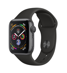 Apple Watch Series 4 Gps 40Mm Space Grey Aluminium Case With Black Sport Band