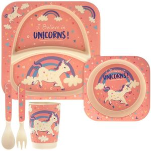 Bamboo Eco Eating Set Unicorn