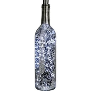 Led Mercury Glass Bottle Light - Silver