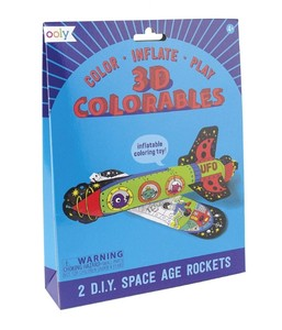 Space age rockets set of 2 double sided