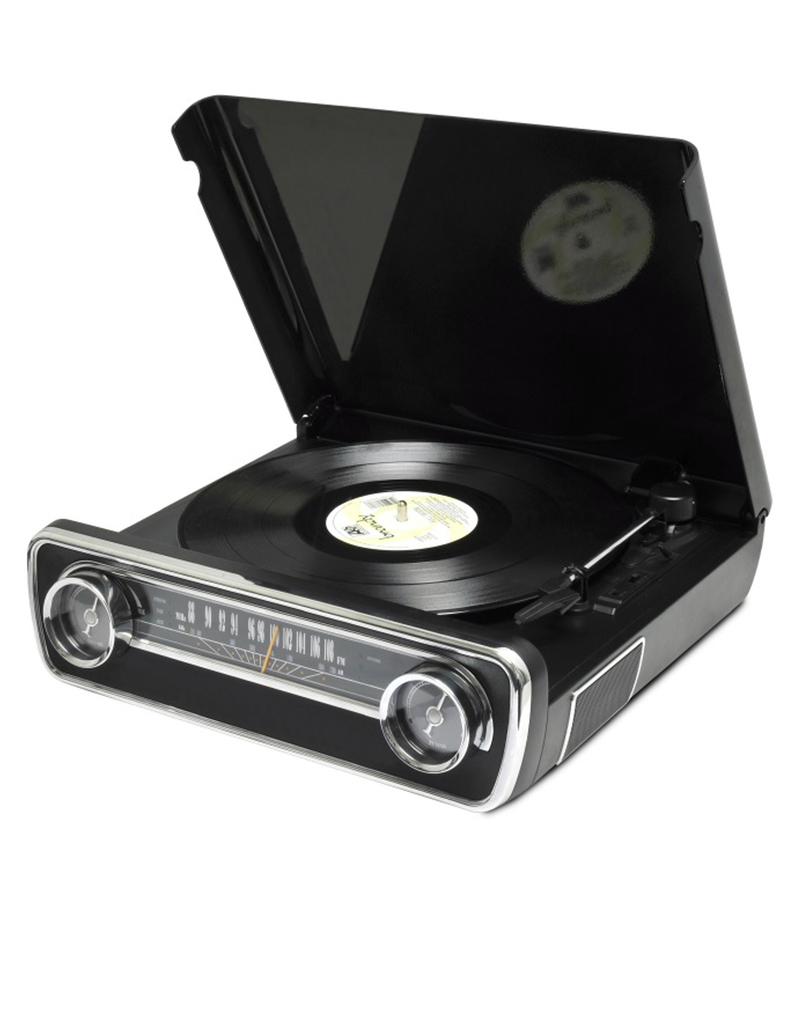 ION Mustang LP Black 4-in-1 Classic Turntable