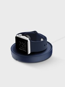 Uniq Dome Blue Charging Dock with Cable Organiser for Apple Watch