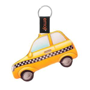 Emoji Taxi Official Yellow Keychain