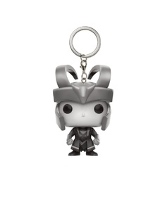 Funko Pop Marvel Loki Black & White Keychain