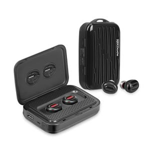Promate Wireless Earbuds With 5000 Mah Power Bank Black