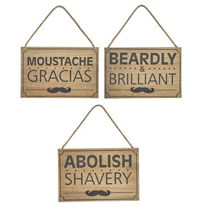 Mens humorous grooming sign