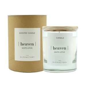 40H Vegetable Scented Candle White Lotus Heaven