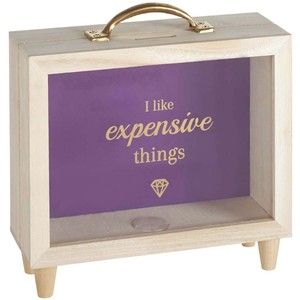 Morado suitcase money box
