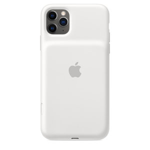 iPhone 11 Pro Max Smart Battery Case with Wireless Charging White
