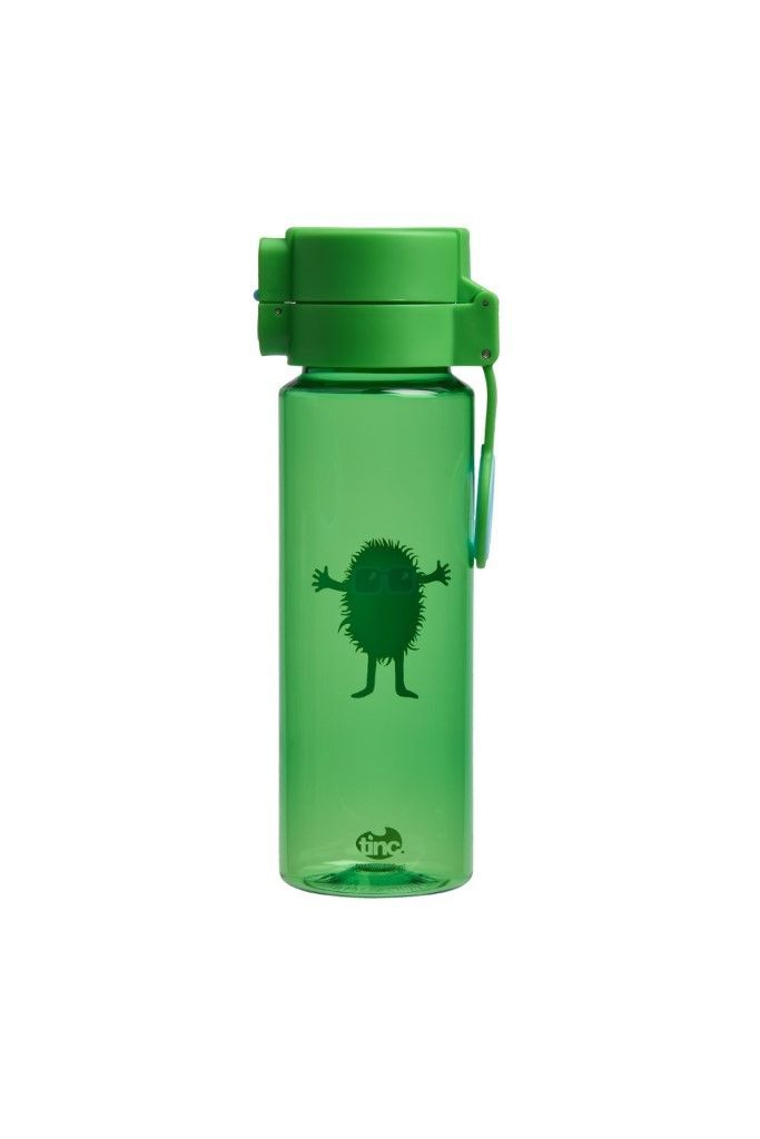 Hugga Flip And Clip Water Bottle Green