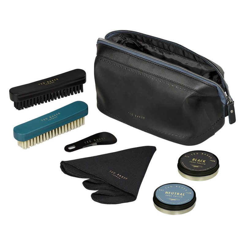 Shoe Shine Kit Black Brogue Monkian