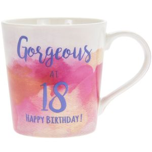 Watercolour Happy 18Th Mug