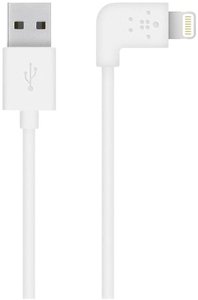 Belkin 90 Degree Sync/Charge Lightning Cable White