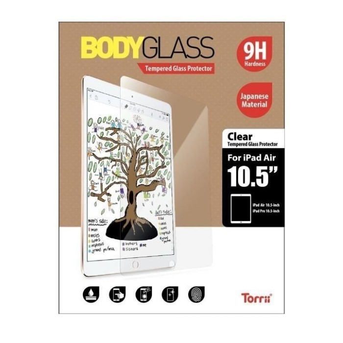 Bodyglass for 2018 New iPad Air 10.5 Clear