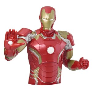 Monogram Iron Man Bust Coin Bank Red Medium