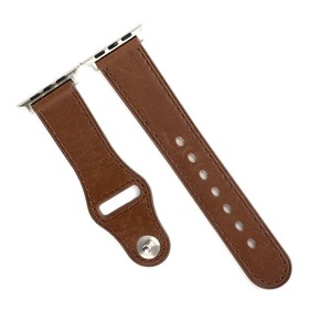 Promate Genuine Leather Strap 38Mm Apple Watch Brown