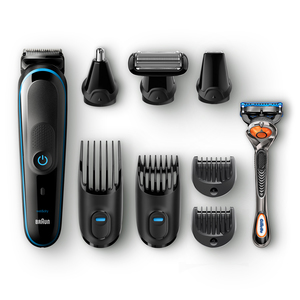 Braun All-in-one MGK5080 beard trimmer Wet & Dry Black,Blue