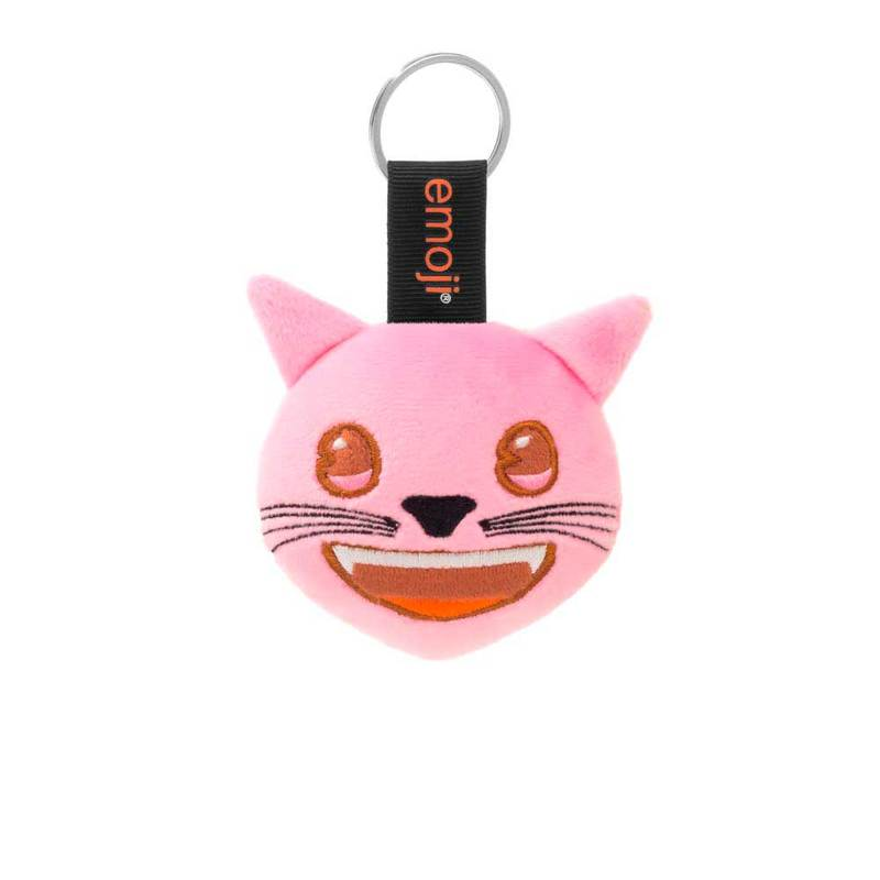 Emoji Pink Cat Official Pink Keychain