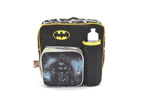 Batman Insulated Kinder Backpack With Water Bottle Lunch Box And Fork&Spoon 11