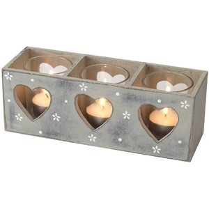 Ditsy Daisy Triple Tealight Holder