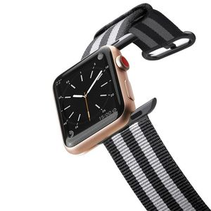 Casetify Apple Watch Band Nylon Fabric All Series 38Mm Black Stirpes