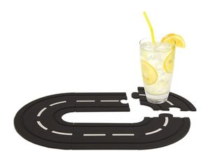 Race track coasters set of 6