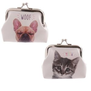 Fun Mini Coin Purse Cat And Dog