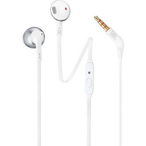 JBL T205 In-Ear Binaural Wired Earphones White