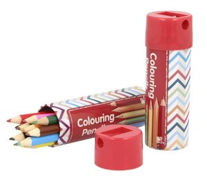 Pencil Crayons In Sharpener Tin