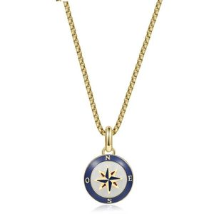 316Lstaineless Steel Gold Pvd White Blue Red Enamel And Blue Nautical Cord
