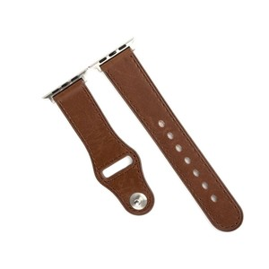 Promate Genuine Leather Strap 42Mm Apple Watch Brown