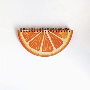 Orange Wire Diecut Notebook